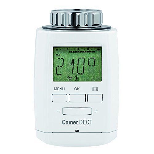 Eurotronic Comet DECT Heizkörperthermostat / Thermostat mit Internetzugang – kompatibel mit AVM FRITZ!Box / App gesteuertes Heizungsthermostat - Weiß #Eurotronic #Comet #DECT #Heizkörperthermostat #Thermostat #Internetzugang #kompatibel #FRITZ!Box #gesteuertes #Heizungsthermostat #Weiß