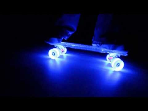 Sunset Skateboards with Flare LED Wheels - 24/7 Fun!