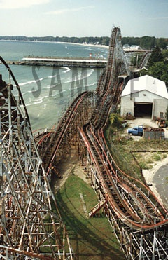 "The ""Comet"" roller coaster at Crystal Beach in Ontario, Canada.  Growing up, it was the most awesome rollercoaster ever."