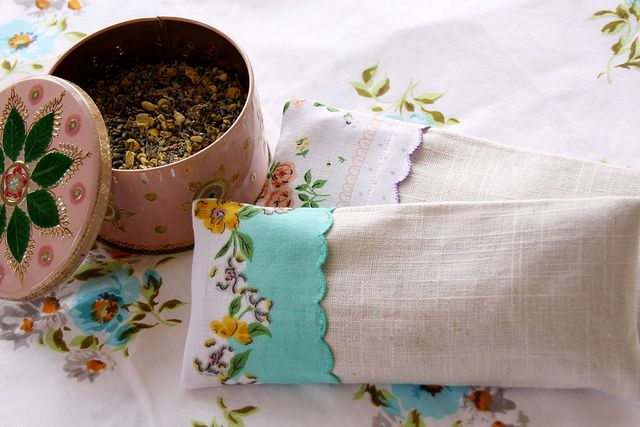lavender, chamomile, flax seed pillows