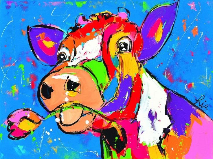 schilderij koe modern - Google zoeken
