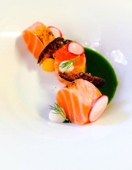 Salmon sashimi dinner fish food
