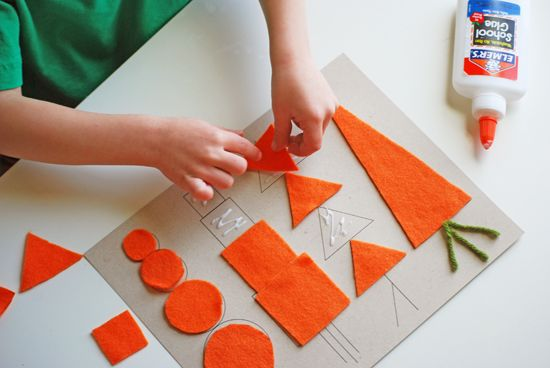 Carrot Shapes Printable. Great Easter Craft Art Project