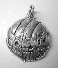 LOOK Beach VolleyBall Rules charm Pendant Jewelry silver