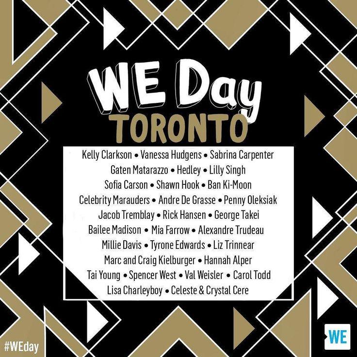 Oh hai Toronto! I hope to see you next week at #wedaytoronto ... alongside some super stellar peeps. #WEday #WEday2017 #WEday2017toronto