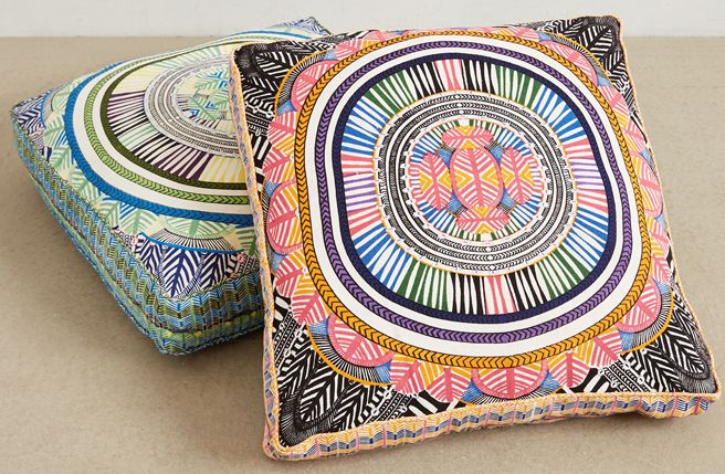 Floor Cushions Anthropologie : Mara Hoffman And Anthro Collaborate On Gypset Home Collection Chairs, Giant floor pillows and ...