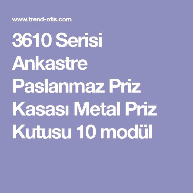3610 Serisi Ankastre Paslanmaz Priz Kasası Metal Priz Kutusu 10 modül