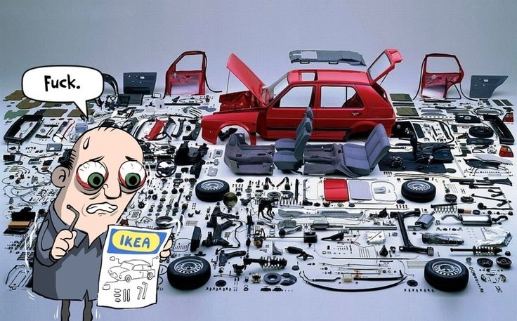 If IKEA sold flat pack cars their instructions will be impossible to transcript. #lfatpack #funny