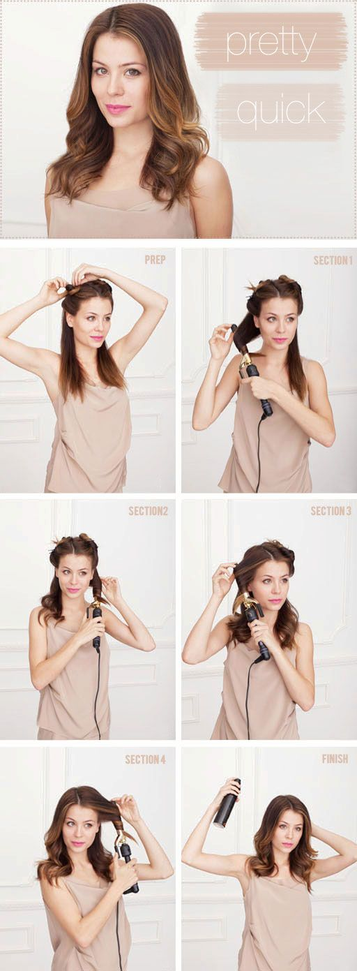 How to curl your hair in 10 minutes