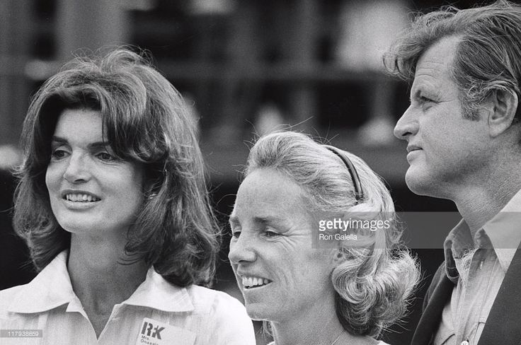 Jackie Kennedy Onassis, Ethel Kennedy, and Ted Kennedy