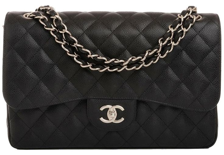 Chanel Black Quilted Caviar Jumbo Classic Double Flap Shoulder Bag. Get one of the hottest styles of the season! The Chanel Black Quilted Caviar Jumbo Classic Double Flap Shoulder Bag is a top 10 member favorite on Tradesy. Save on yours before they're sold out!
