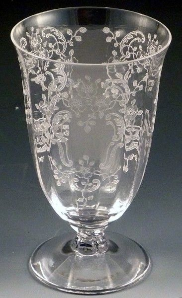 Elegant Depression Glass. Looks beautidful mixed in with modern crystal glasses in a table setting