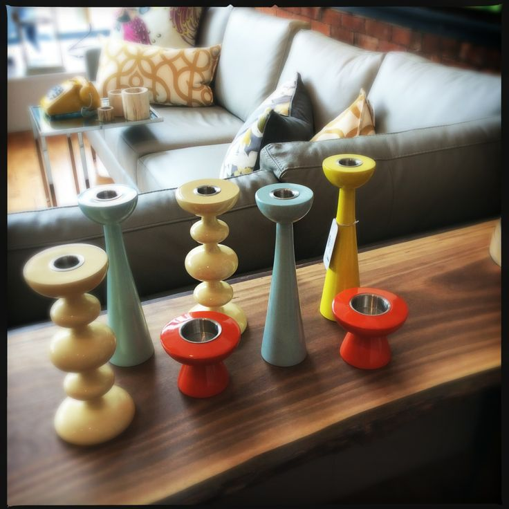 Handmade danish design wooden candlesticks are the perfect home accessory. Available at the Design Annex and Shop at AGH.