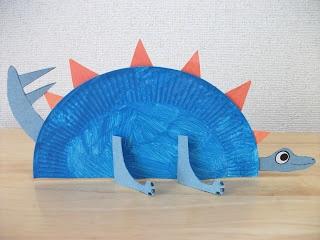 Paper Plate Stegosaurus Dinosaur Craft ~ fun preschool craft