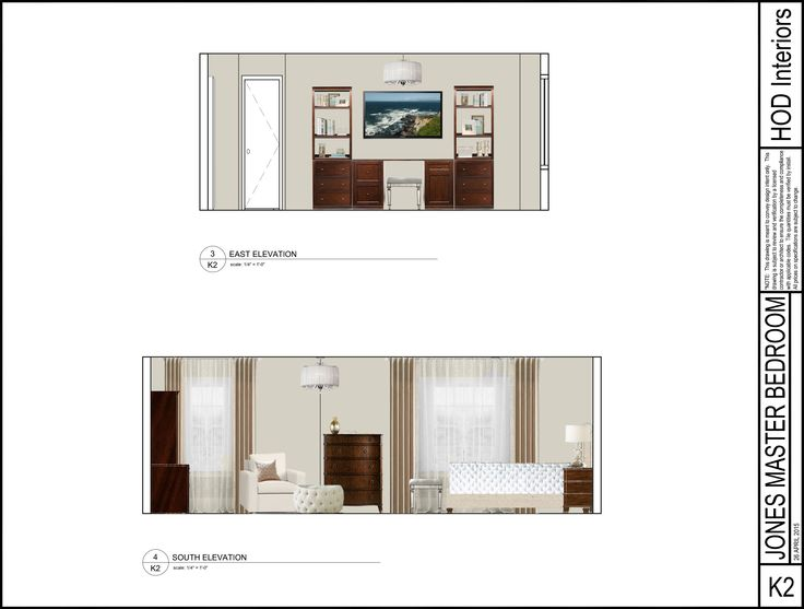 Photoshop elevation laura jones design service bedroom for Dining room elevation