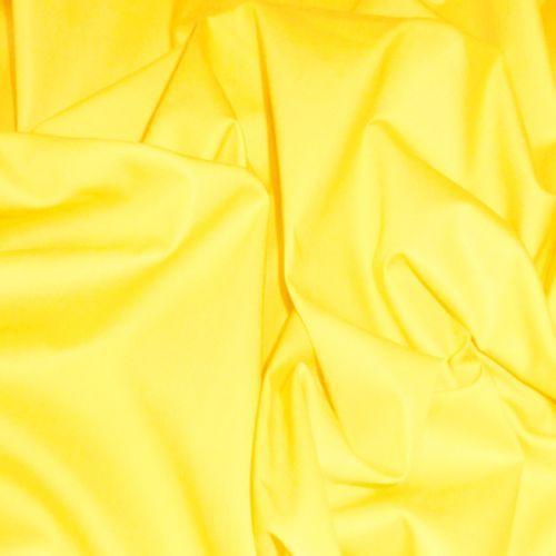 YELLOW-POLISHED-COTTON-SHINY-FABRIC-for-DRAPE-DRESS-SKIRT-CRAFT-BAGS-UPHOLSTERY