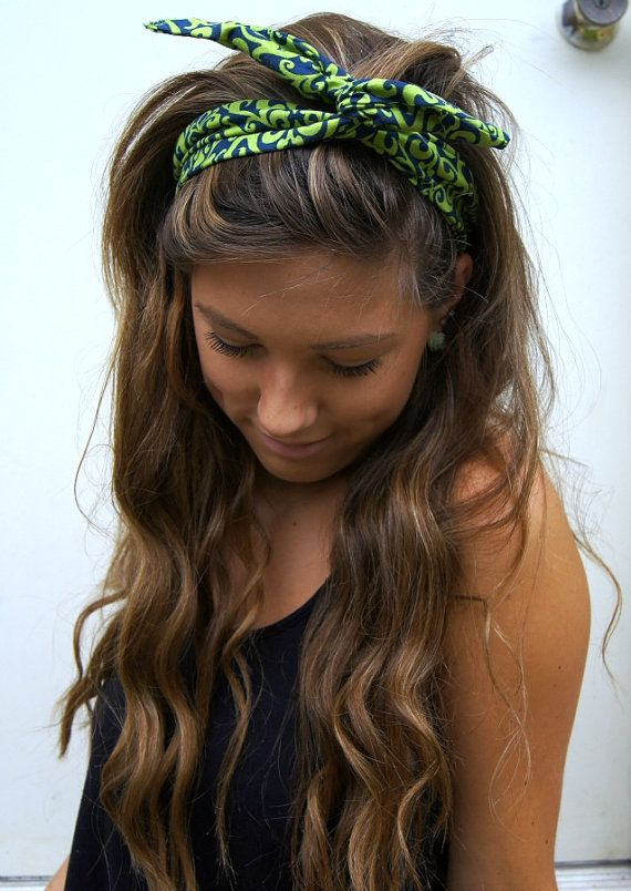 ROCKABILLY Headband Wired Dolly Bow Reversible Fabric PIN UP Headwrap