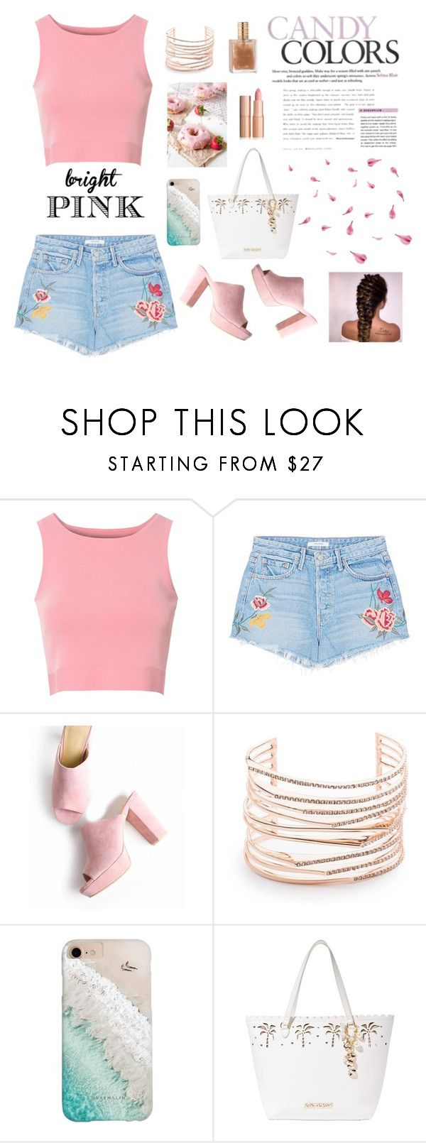 """""""Pretty in pink"""" by alexrsg ❤ liked on Polyvore featuring Glamorous, GRLFRND, Alexis Bittar, Gray Malin and Betsey Johnson"""