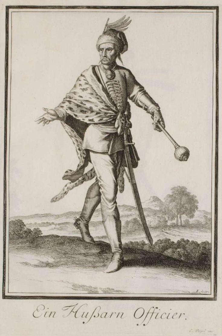 Oficer huzarów II poł XVII wieku