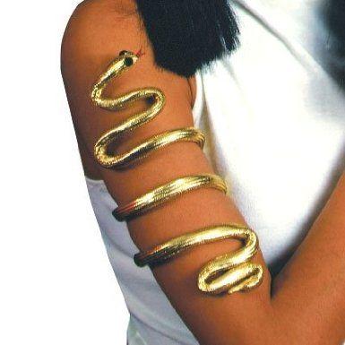Amazon.com: Egyptian Asp Armband (gold) Halloween Costume Accessory: Clothing