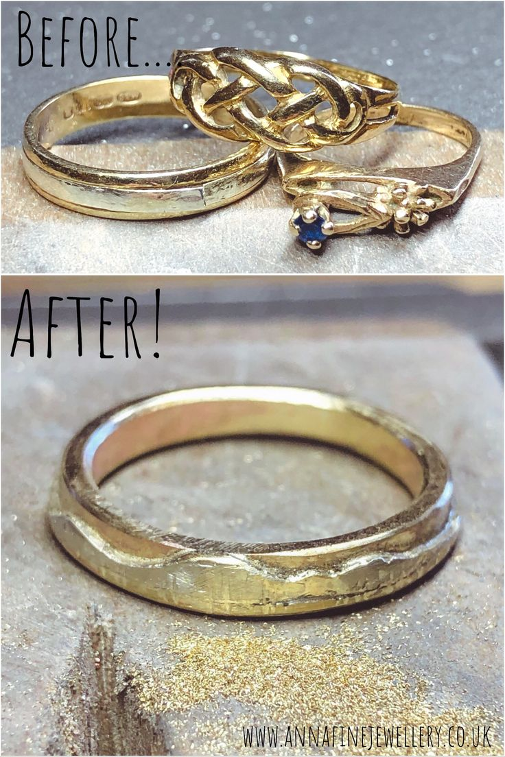 Old and broken gold jewellery, being turned into a lovely