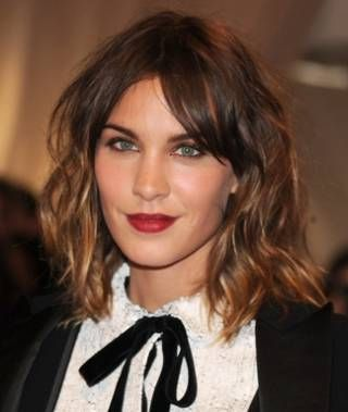 To get surfer strands without hitting the waves, Bogart recommends having your colorist do chunky bright pieces below the chin so that it doesnt wash out your complexion, plus a few hand-painted, less bright pieces around the face. According to Bogart, medium brunettes like Alexa Chung should get a creamy gold hue on the ends and a warm caramel closer to the face. You can get away with a lot more blondness on the ends, she says.