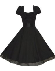 Pretty Kitty Fashion 50s Schwarz Cocktail Kleid