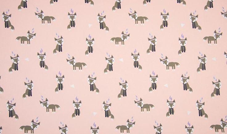Indian Fox Rose | Bedrukte Tricots | Lello Stoffen