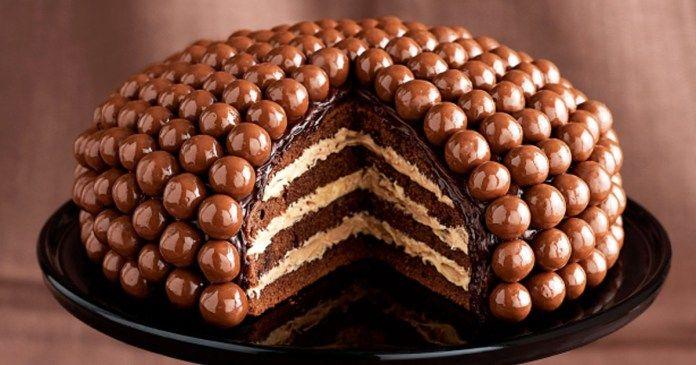 recept na Extra čokoládový dort s čokoládovými koulemi