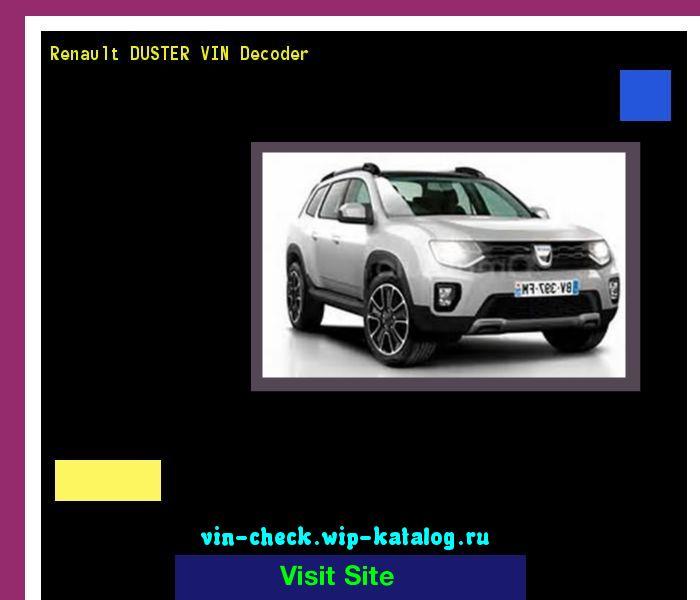 Renault DUSTER VIN Decoder