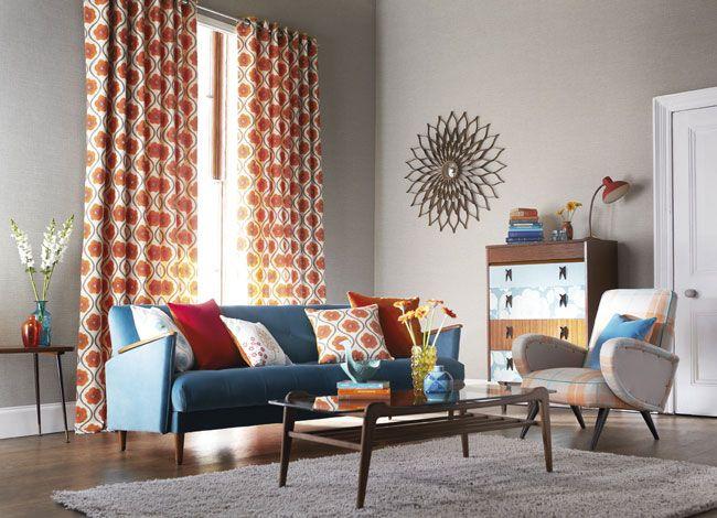 Best Retro Living Room Curtains Photos Awesome Design Ideas