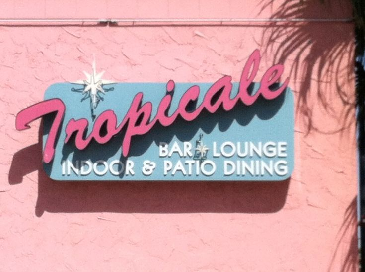 Tropicale bar and lounge restaurant in Palm Springs, CA