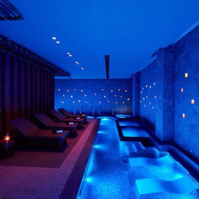 Indoor pool its like a night club drinks in the water anyone massage envy pinterest for Swimming pool meaning in dreams
