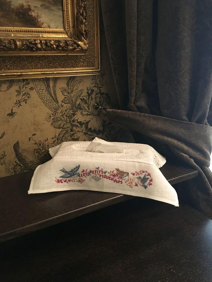 Чехол для салфеток ,, Ne pleure pas , Jeannette,, . Les brodeuses Parisiennes