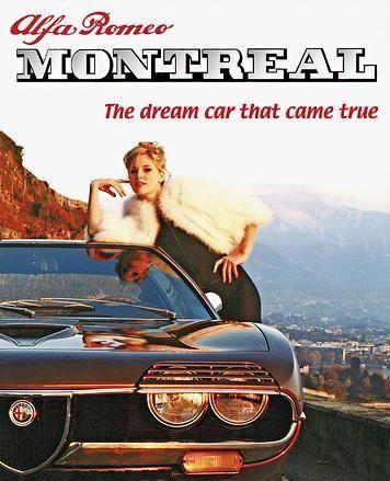 Alfa Romeo Montreal. Mooie cover! Auto is nooit echt succes geworden. Een te koop bij Auto Romeo in Nootdorp.