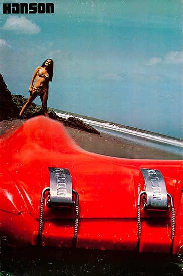 original Hanson ski boot poster 70's