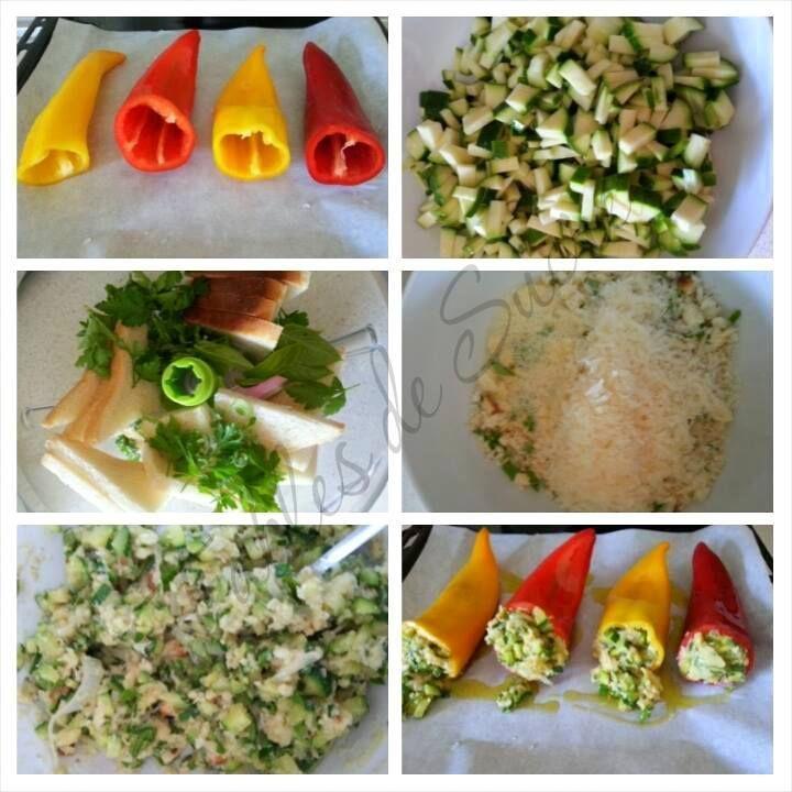 Peperoni ripieni al forno, con zucchine, una ricetta facile e anche se così non sembra, pure veloce. Per gustare al meglio le verdure di stagione.