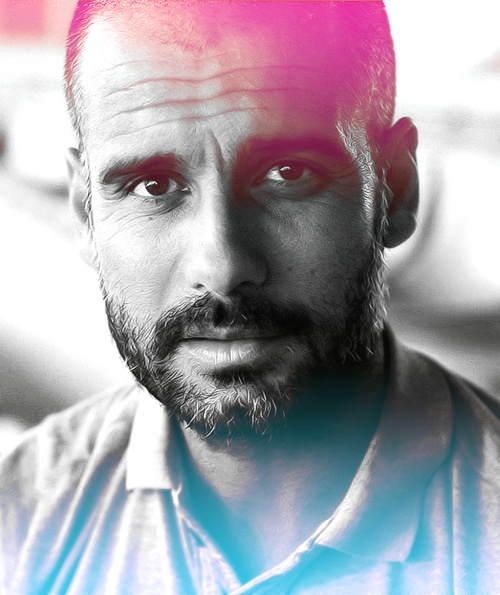 Pep Guardiola, Spanish former footballer who is now the manager of Bundesliga club Bayer Munchen, b. 1971