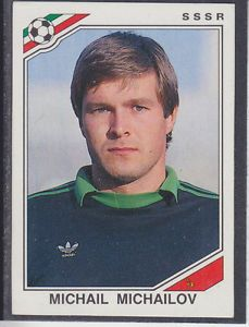 Image result for mexico 86 panini ussr michailov