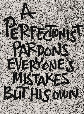 Not cool. #Perfectionism #insight #ahamoment