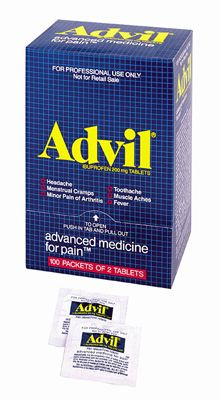 @ShopAndThinkBig.com - Advil?, The Advanced Medicine For Pain?, Offers Temporary Relief Of Minor Aches And Pains Associated With Headache, Toothache, Backache, The Common Cold, Muscular Aches, Minor Pains Of Arthritis, Menstrual Cramps, As Well As Temporaily Reduces Fever. Active Ingredient ( In Each Tablet): Iibuprofen, 200 Mg.… http://www.shopandthinkbig.com/advil-advanced-medicine-for-pain-50-2-packs-100-tablets-per-dispenser-box-first-aid-only-p-7131.html