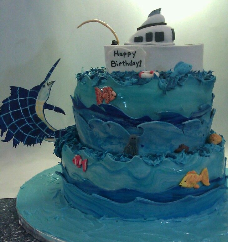 11 best Jerrys birthday cake images on Pinterest Fishing cakes