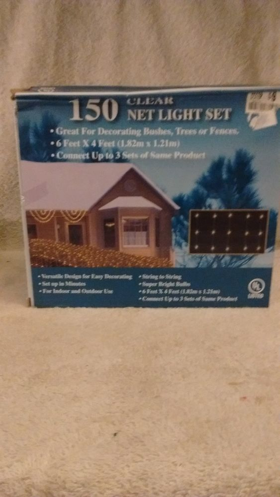 150 Clear Net LIght set, 6 x 4 feet,  indoor/outdoor