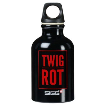 Twig-Rot Executive Aluminum Water Bottle - halloween decor diy cyo personalize unique party