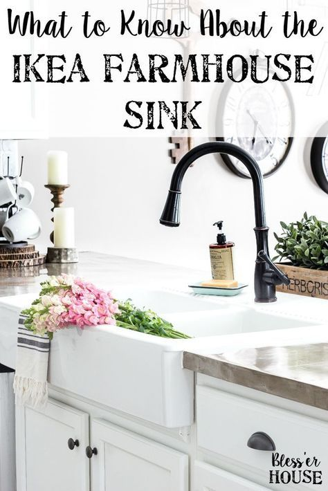 IKEA Farmhouse Sink Review | blesserhouse.com - What to know before buying the Ikea farmhouse sink Domsjo- how well it cleans, how functional it is, and if it's the right investment for your kitchen.