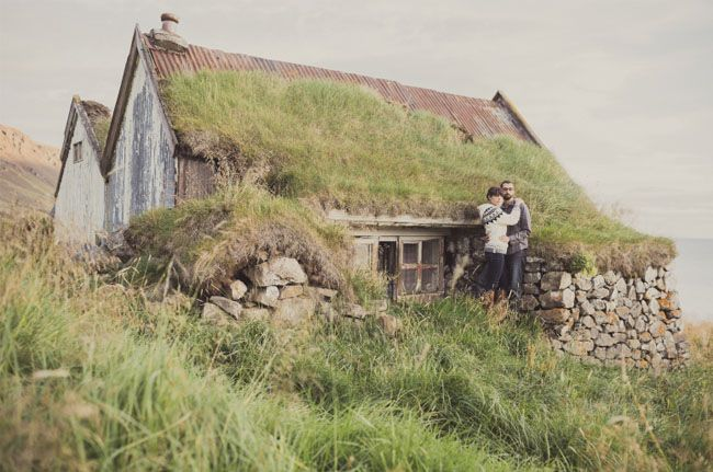 Iceland engagement shot by Iris and Light