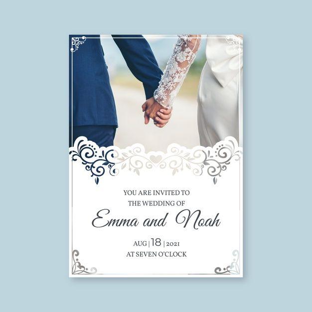 Wedding Invitation Template With Photo Wedding Invitation Templates Wedding Invitations Retro Wedding Invitations