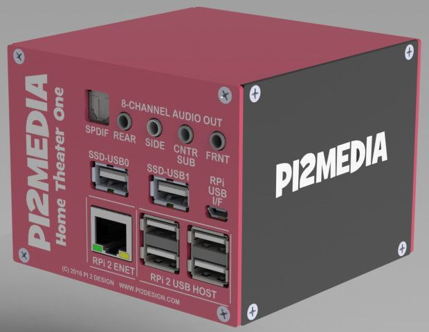Pi2Design has come up with a very neat package for their latest crowdfunding campaign. The Pi2Media Home Theatre One combines a Raspberry Pi 2 with two add-on boards to create a full surround-sound…
