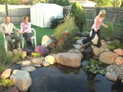17 best images about pond construction videos on pinterest for Garden pond construction