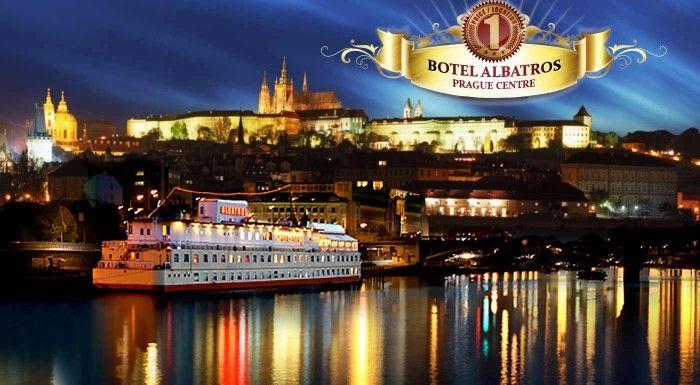 Jedinečný pobyt na vlnách Vltavy v Boteli Albatros*** v centre Prahy